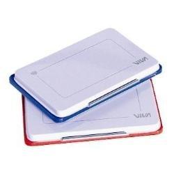 Viva 348R Cuscinetto di Tela per Timbri in Gomma, Struttura in Metallo e Bordo in Plastica, 110 x 70 mm, Rosso
