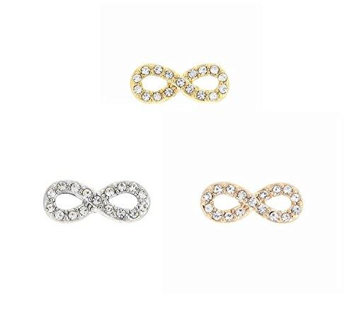 RicVanMur Charm - Infinity / Unendlich passend für Charmband / Mesh Armband (Silber) (Schmuck Infinity Charms)