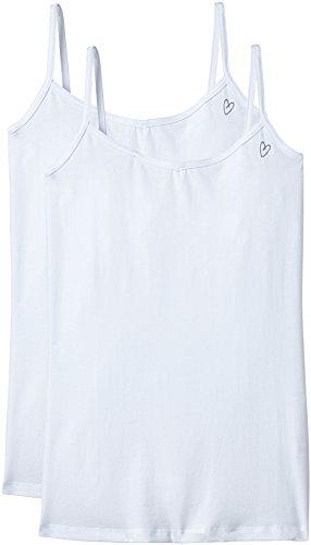 Intimuse Damen Unterhemd, 2er Pack, Einfarbig, Gr. 44 (Herstellergröße: L), Weiß