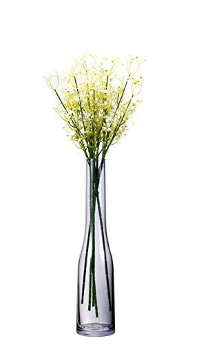 Umi.essentials vaso da fiori  portafiori in vetro soffiato a bocca senza piombo per addobbo tavola cucina altezza 39cm blu