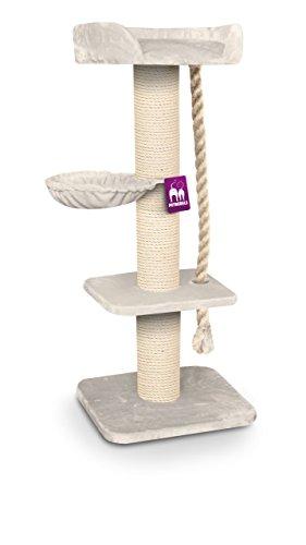 Petrebels Kratzbaum REBEL MAINE COON 173 cm hoch in royal-cream. Extrem stabiler Kratzbaum XXL für große Katzenrassen.