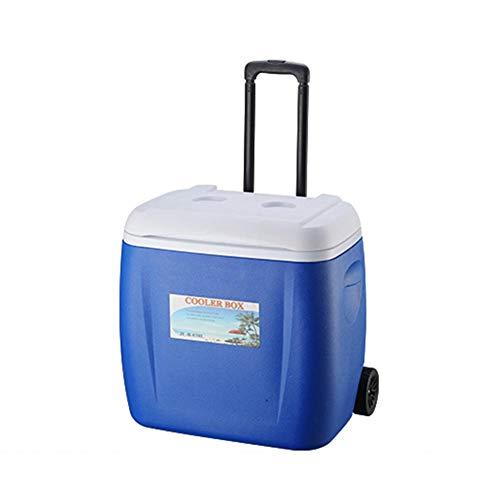 Sunflowerany 28L / 38L Outdoor-Home-Kühler mit Rollen-Deichsel-PU-Lebensmittelinkubator gekühlt frisch haltend Kälte-Aufbewahrungsbehälter