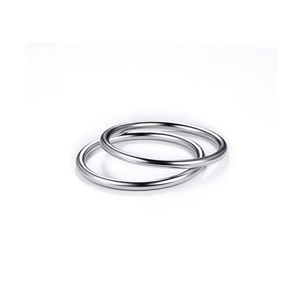 """Topind 3"""" Large Size Alumnium Baby Sling Rings for Baby Carriers & Slings of 2 pcs Bright Silver TOPIND Great replacement aluminium rings for your baby sling rings Get a much more intimate way to touch your baby You can choose the color you like 2"""