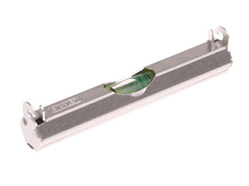 Stanley Schnurwasserwaage (leichte Aluminiumausführung, 2 Haken für Schnurnutzung, flache Unterseite) 0-42-287