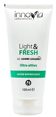 Crema Gel Rinfrescante per Gambe Pesanti - Ideale per una sensazione di Leggerezza e Sollievo - Ha un Effetto Freddo Immediato che stimola la Circolazione ed ha un'Azione Anticellulite - Made in Italy