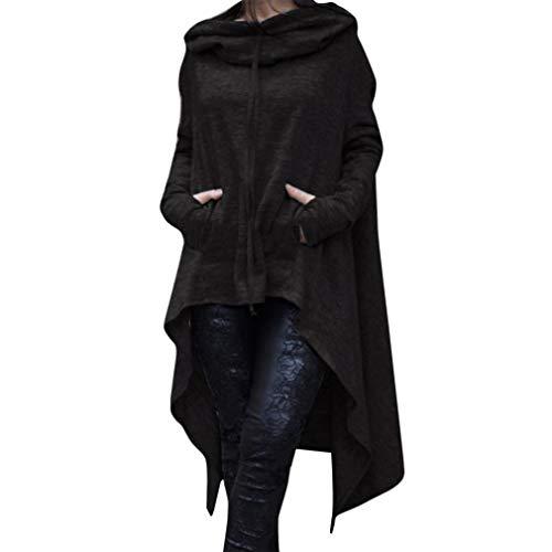 Mujer Sudadera manga larga traje de Invierno Otoño moda fashion streetwear,Sonnena Sudaderas con capucha flojas de las mujeres Suéter de las señoras Suéter de la blusa asimétrica