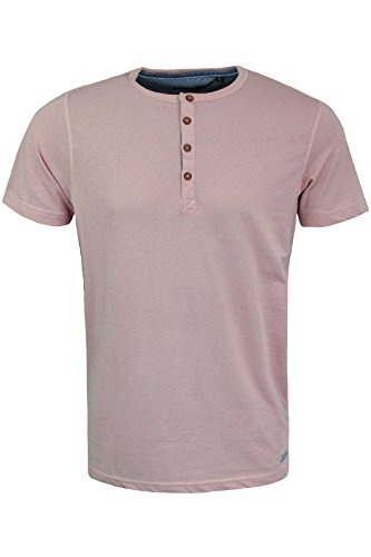Brave Soul Herren T-Shirt Dusty Pink   Navy Blue