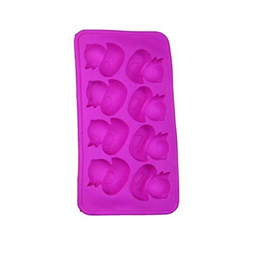 Wetour Silikon Eiswürfel Formen und Tablett Tier Ente Fisch geformte Eismaschine Form DIY Kuchen backen Form (Ente Kuchen-form)