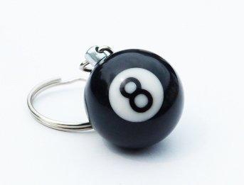 Das Original 8 Ball Eight Ball Die Schwarze 8 Kugel als Schlüssel Anhänger