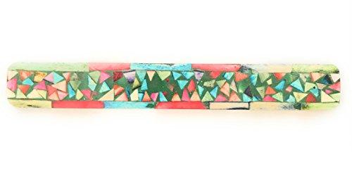 La conchiglia - bruciaincenso a barchetta per bastoncini - portaincenso mosaico colorato in legno