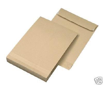 100 Faltentaschen Versandtaschen DIN B4 mit 4cm Falte