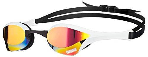 arena Unisex Wettkampf Profi Schwimmbrille Cobra Ultra Mirror (Verspiegelt, UV-Schutz, Anti-Fog Beschichtung), Red Revo-White-Black (11), One Size