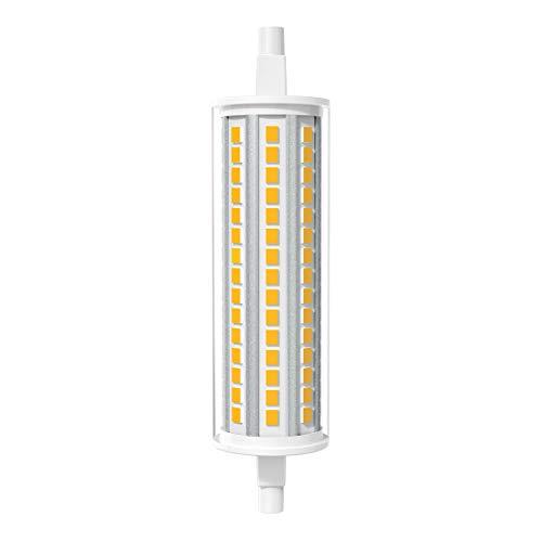 AGOTD R7s 118mm LED 12W Lampada LED, Bianco Caldo 3000K 12Watt Equivalente a 125W r7s Lampada Alogena, Lampadine R7S J118 per Lampada Riflettore Proiettore, Lampada Soffitto, Confezione da 1