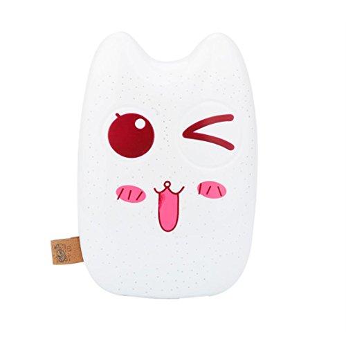 Emoji Power Bank, Gusspower Cartoon Niedlich Lustig Emoji 20000mAh Portable 2 USB External Akku Ladegerät Power Bank Für Smartphone- inklusive Micro USB-Ladekabel (C)