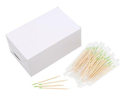 (Einzeln verpackt Mint Geschmack Holz Zahnstocher Zahnstocher aus Holz prtemium Qualität 6,5cm Länge Plastikbeutel)