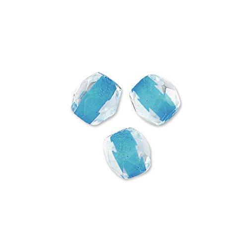 Glasschliffperlen 3mm Crystal Aqua Lined x50 (Crystal Lined Aqua)