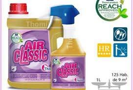 Thomil Air Classic AMBIENTADOR Clasico DE Alto Rendimiento Ambientador Aroma clásico Muy selecto de pH Neutro y Larga duración Que Elimina los olores sin Dejar cercos ni Manchas.Garrafa 4l