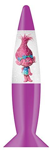 Lámpara LED de Trolls con purpurina