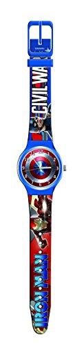 Marvel Avengers 0500655 Kinderuhr, Armbanduhr, Quarz Analog, Kinder, Captain America, Iron Man (Ironman-uhr Für Kinder)