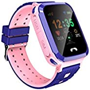Kids Smart GPS Watch 1.44 inch Touch Smartwatch LBS Kid Tracker for Children Girls Boys Birthday Gift with Cam