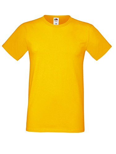 Fruit of the Loom Herren T-Shirt Men`s Sofspun T Sunflower
