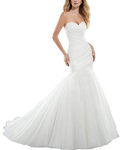 YASIOU Hochzeitskleid Damen Standesamt Meerjungfrau Lang Hochzeitskleider Brautkleider Brautmode mit...