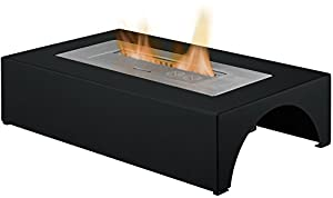 Adam The Curve Freestanding Bio Ethanol Fire in Black