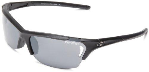Tifosi Radius Glasses Matte Black - Smoke/AC red/Clear 2018 Fahrradbrille (Tifosi Radius Sonnenbrille)
