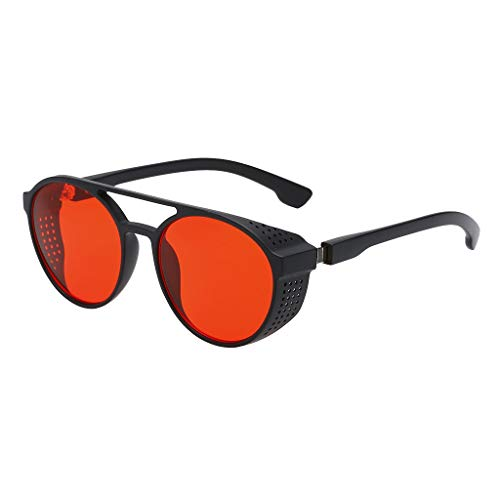 Syeytx Men Vintage Eye Sonnenbrille Retro Eyewear Fashion Strahlenschutz Blackout Sonnenbrille 3 Farben
