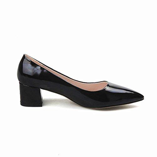 Mee Shoes Damen chunky heels spitz Geschlossen Pumps Schwarz