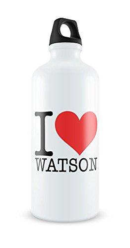 i-love-watson-white-aluminium-water-bottle