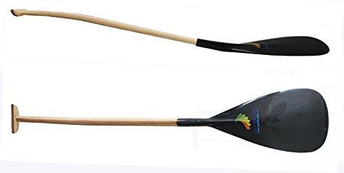 ZJ SPORT Pala hinchable de canoa OC de carbono con eje curvado de made