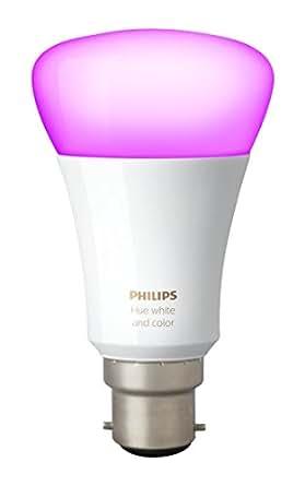 Philips - Lampadina B22 da atmosfera, confezione da 2 unità, colore: bianco sfumato, Sintetico, White, B22, 10W 230V