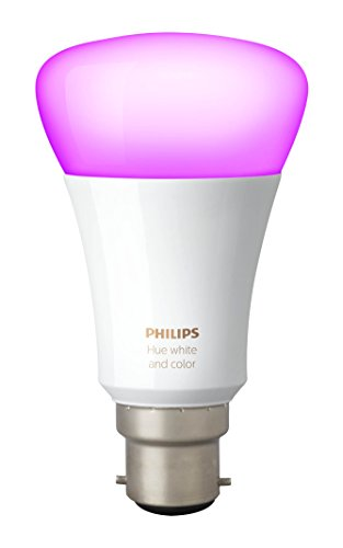 Philips Hue White and Colour Ambiance Wireless Lighting 9 W B22 Bayonet Cap Richer Colours LED Bulb, Works with Alexa Test