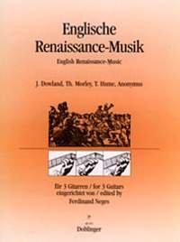 ENGLISH RENAISSANCE MUSIC PARA 3GUITARRAS DE FERDINAND NEGES