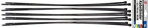 Kraftmann 80773 | Kabelbinder-Sortiment | schwarz | 8,0 x 700 mm | 10-tlg.