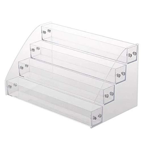 Qifumaer 1 x Acryl-Nagellack-Ständer, transparent, für Lippenstift, Aufbewahrung, Organizer für Schreibtisch-Finish, Make-up, Kosmetik, Nagelzubehör, 4 Etagen