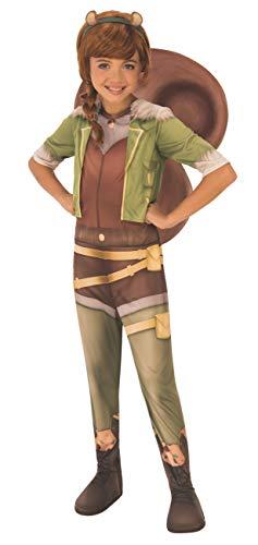Eichhörnchen Mädchen - Marvel Rising: Secret Warriors - Kostüm Kostüm für Kinder - Klein - 117cm - 3/4 Alter