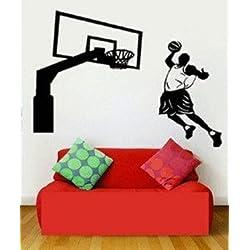 Vinilo decorativo pegatina pared, cristal, puerta (Varios colores a elegir)-baloncesto