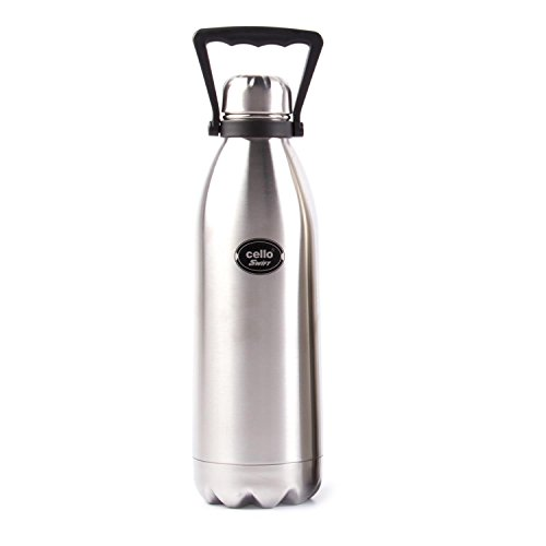 Cello Swift Steel Flask, 1.5 Litres, Silver