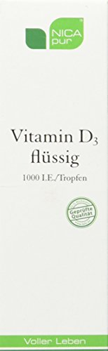 NICApur Vitamin D3 flüssig 1000 I.E I hochdosierte Tropfen I Reinsubstanz ohne Zusatzstoffe I 25 ml