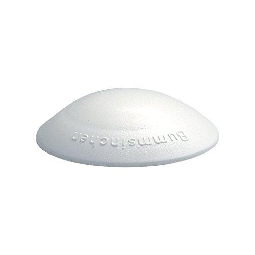 Türstopper Bummsinchen Türpuffer Wandpuffer selbstklebend und schraubbar für Wand und Boden 40mm by parkett-werk (weiß, 5 Stück)
