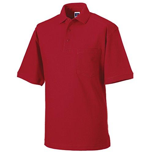 MAKZ Herren Poloshirt Rot - Rot