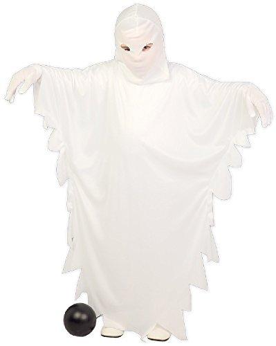 ngen Unisex: Kinder Einfach Retro weiß Ghost Geist Gejagter Kostüm Kleid Outfit 5-12 Jahre - Weiß, 5-6 Years ()