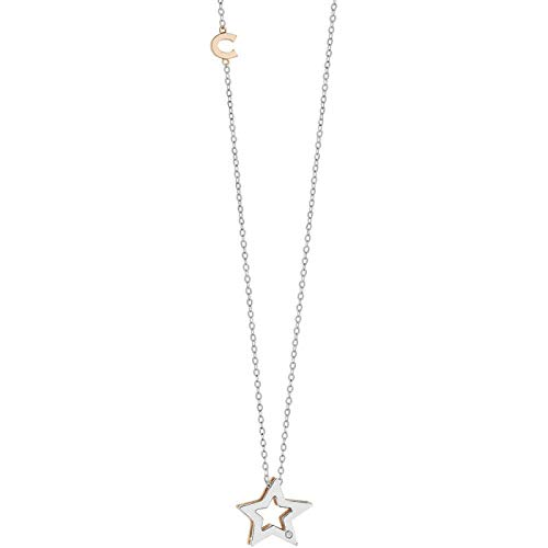 Girocollo comete gioielli stelle in oro bianco e rosè glb1449