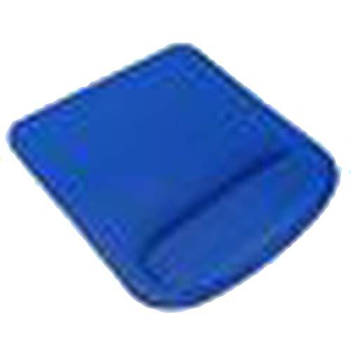 Mauspad mit Handgelenkauflage, Gummi, 210 x 230 x 4 mm blau -