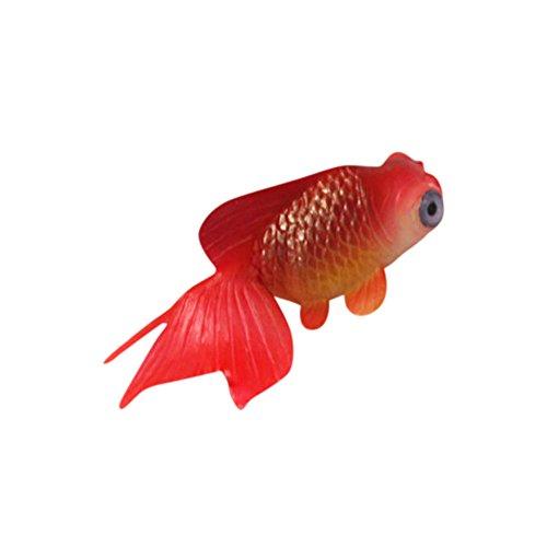 WYXlink Schöne Gummi Weiche Kleine gefälschte Fisch Plastik Fisch Goldfisch Aquarium Landschaftsbau Aquarium Dekoration (D)