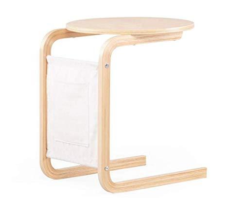 BOC Klapptisch - Nordic Massivholz Birke Small Side Mobile Lounge Balkon, Einzel-Couchtisch, Nachttisch,A,Tabelle -