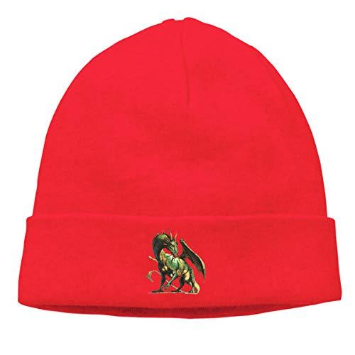 xy Dragon Velociraptor Tyrannosaurus Fashion Unisex Autumn/Winter Knit Cap Hedging Cap Casual Cap Cartoon Funny Hedging Cap Beanie Caps Hats -