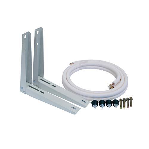 "Kit de instalación: Soportes 400 mm+Tubo+Antivibradores+Tacos metálicos fijación a muro 1/4""x3/8"" (3200W)"